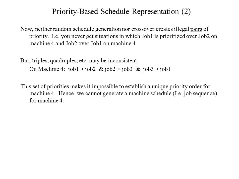 Priority-Based Schedule Representation (2)