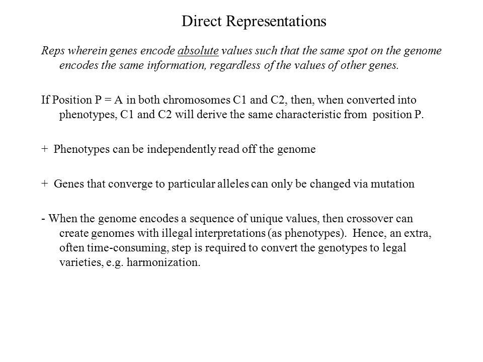 Direct Representations