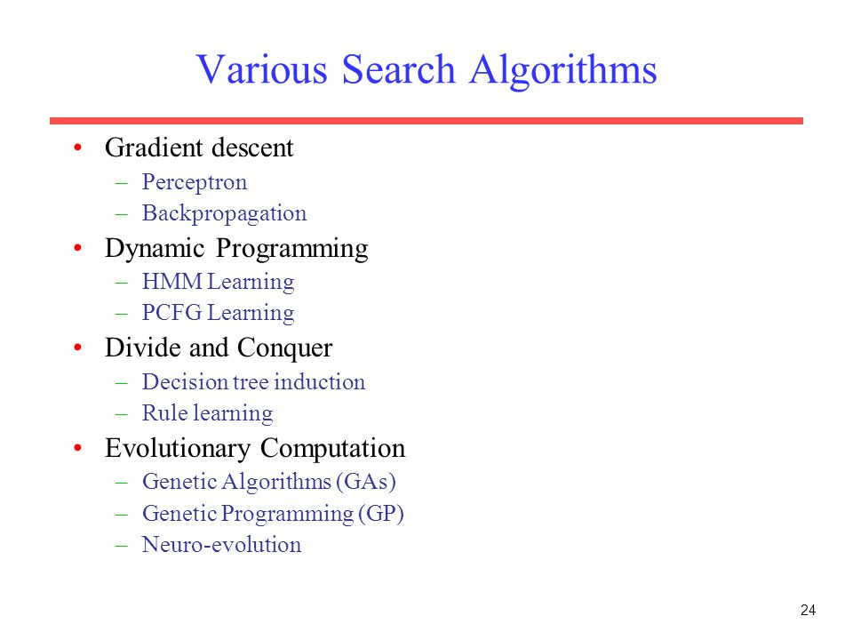Various Search Algorithms