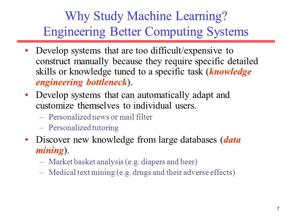 Why Study Machine Learning Engineering Better Computing Systems