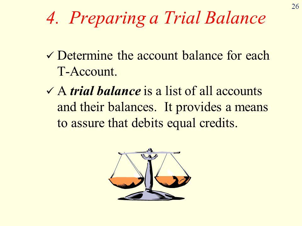 4. Preparing a Trial Balance