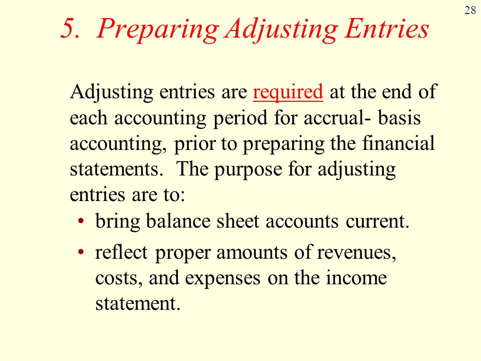 5. Preparing Adjusting Entries