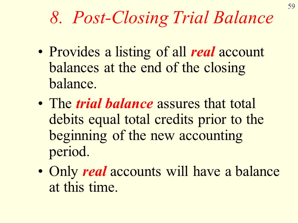 8. Post-Closing Trial Balance