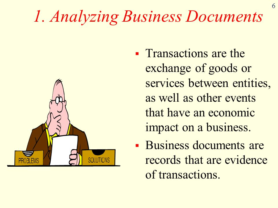 1. Analyzing Business Documents