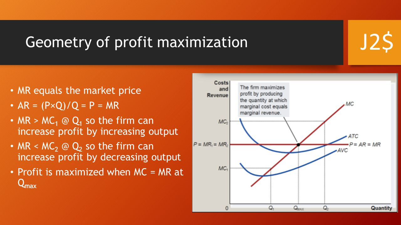 Geometry of profit maximization