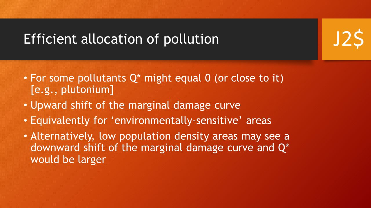Efficient allocation of pollution