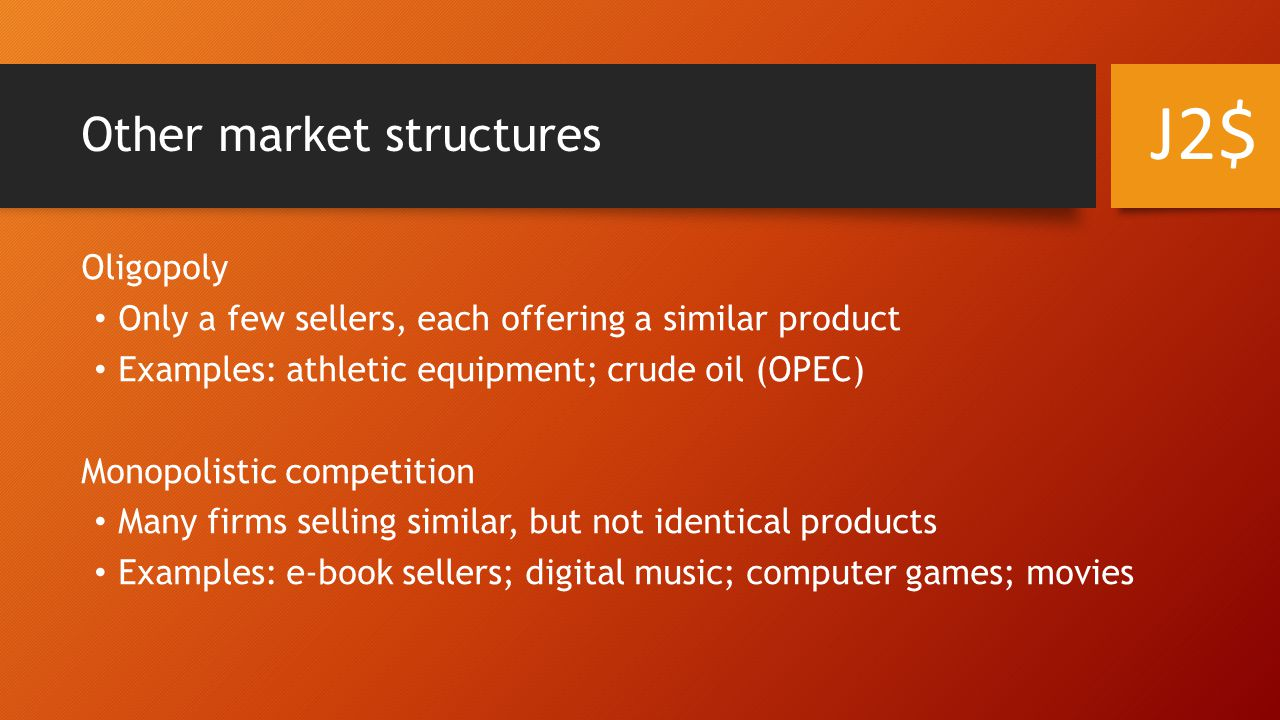 Other market structures