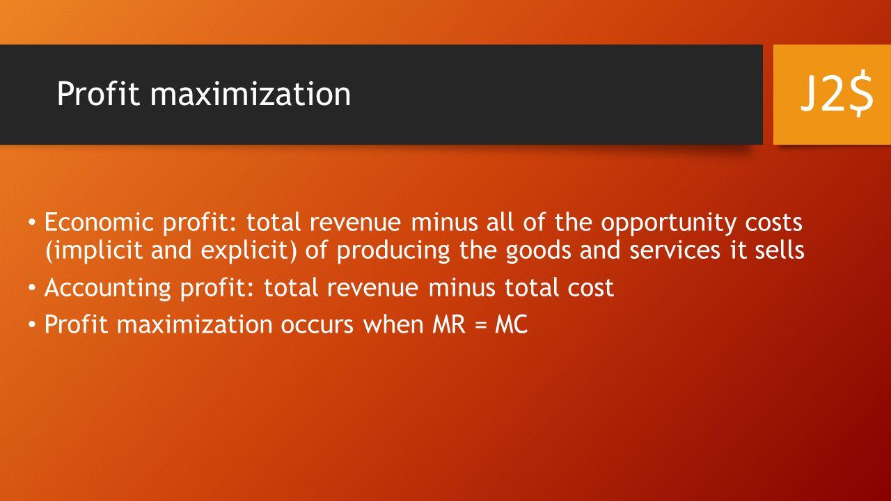 J2$ Profit maximization