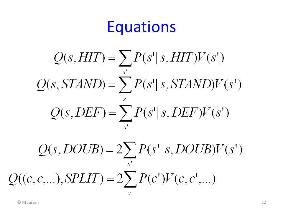 Equations © Mausam