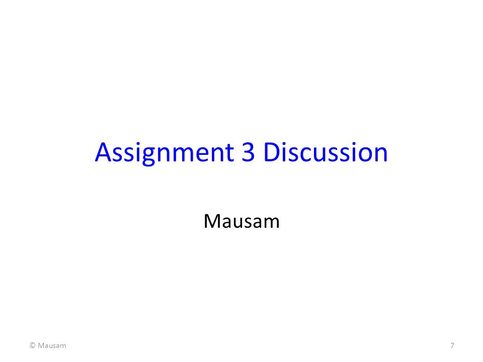 Assignment 3 Discussion