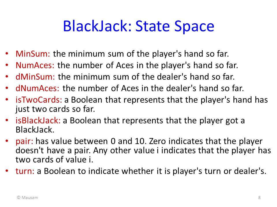 BlackJack: State Space