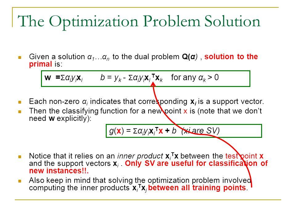 The Optimization Problem Solution