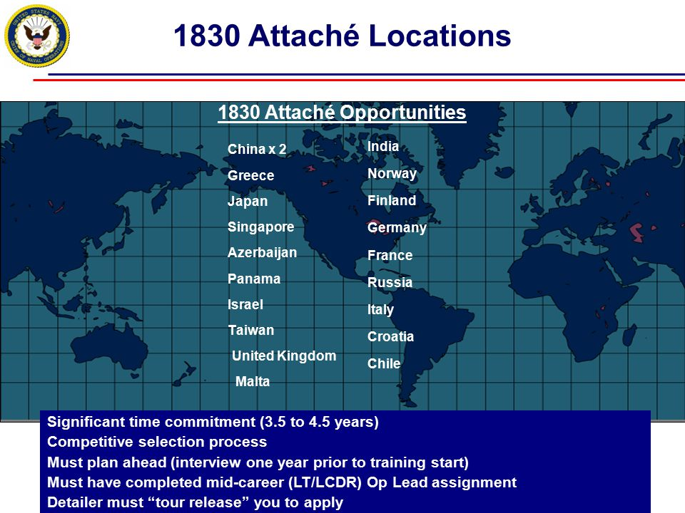 1830 Attaché Opportunities