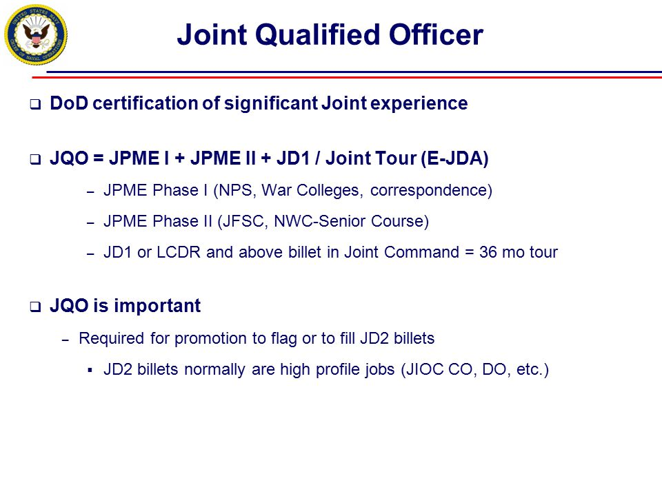 Joint Qualified Officer