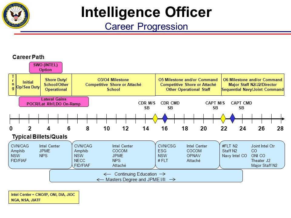 Intelligence Officer Career Progression