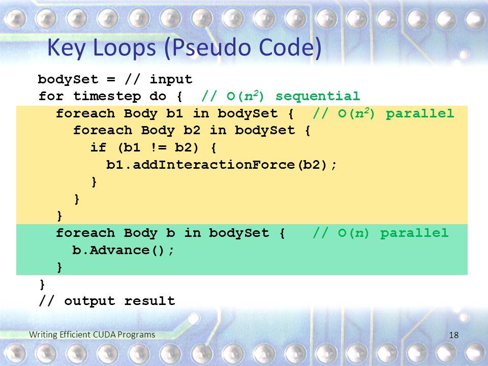 Key Loops (Pseudo Code)