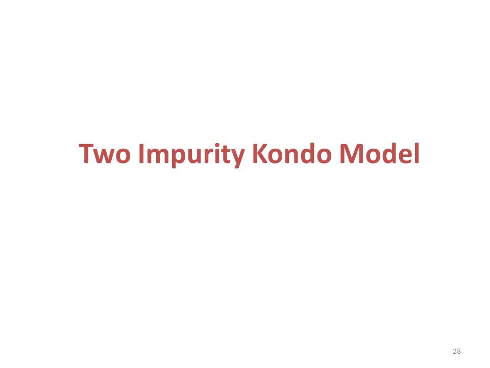 Two Impurity Kondo Model