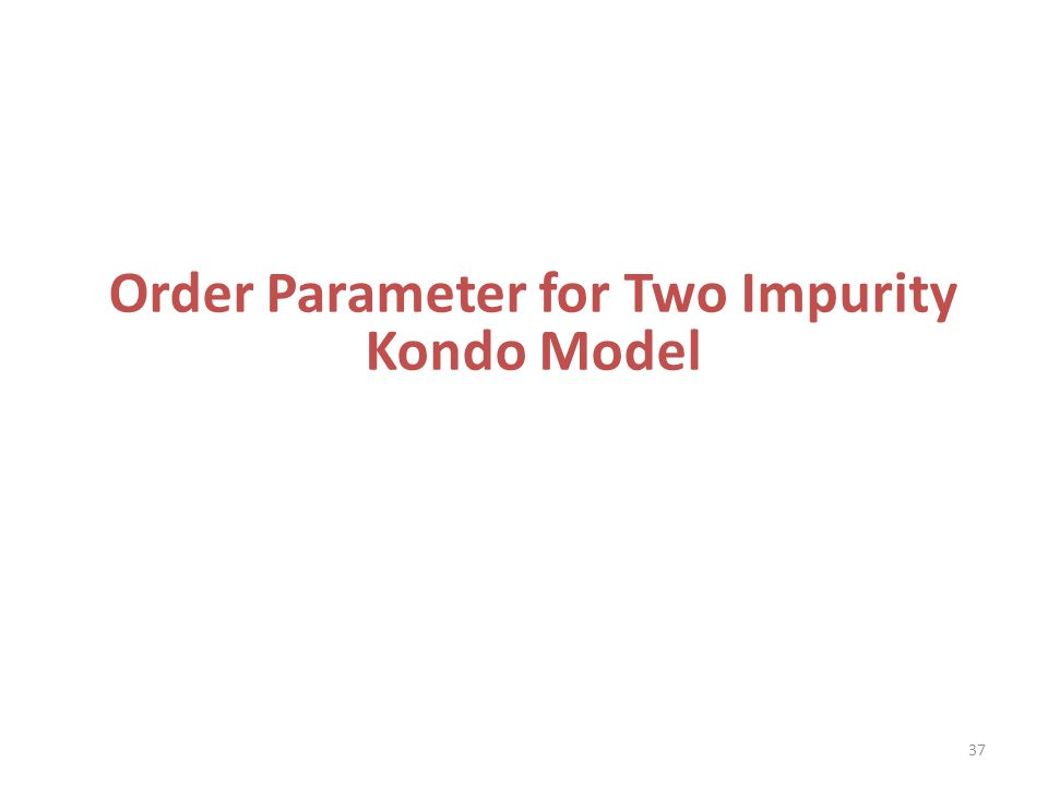 Order Parameter for Two Impurity Kondo Model