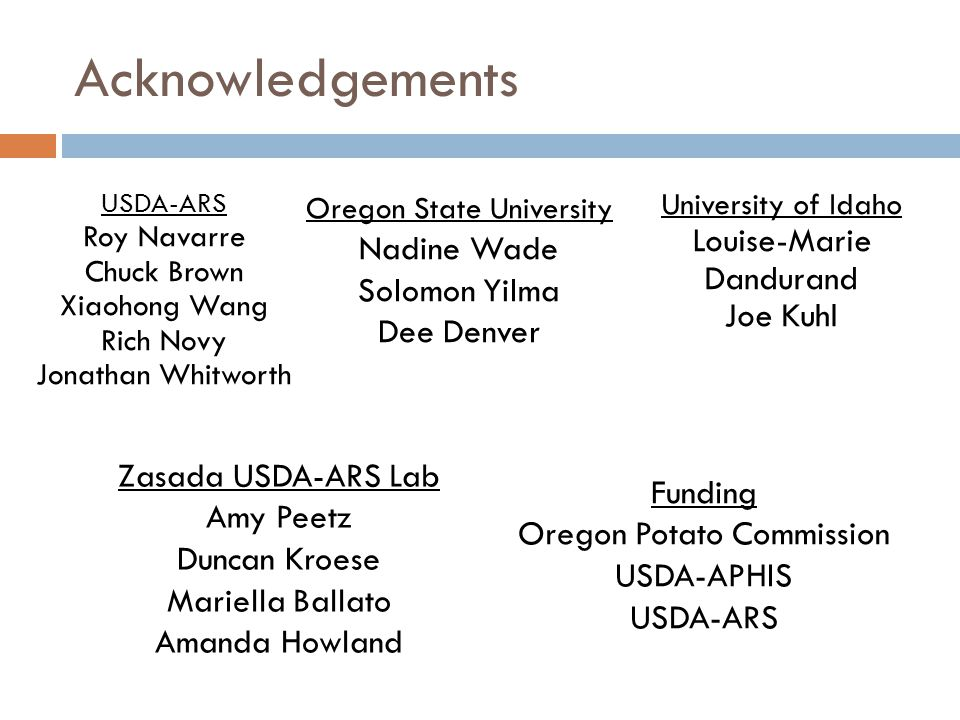 Acknowledgements Nadine Wade Louise-Marie Dandurand Solomon Yilma
