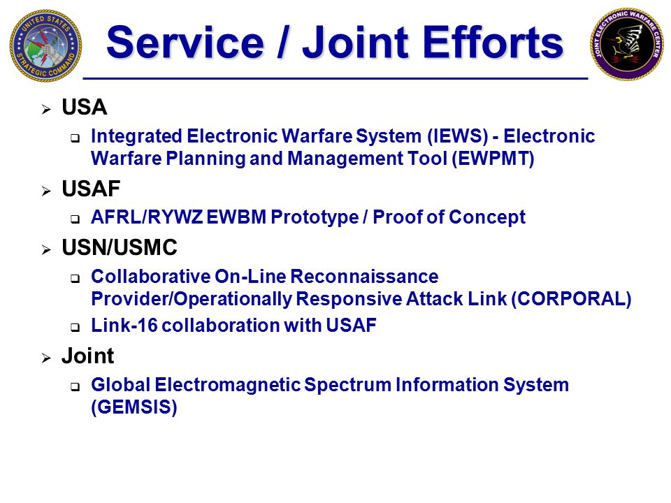 Service / Joint Efforts
