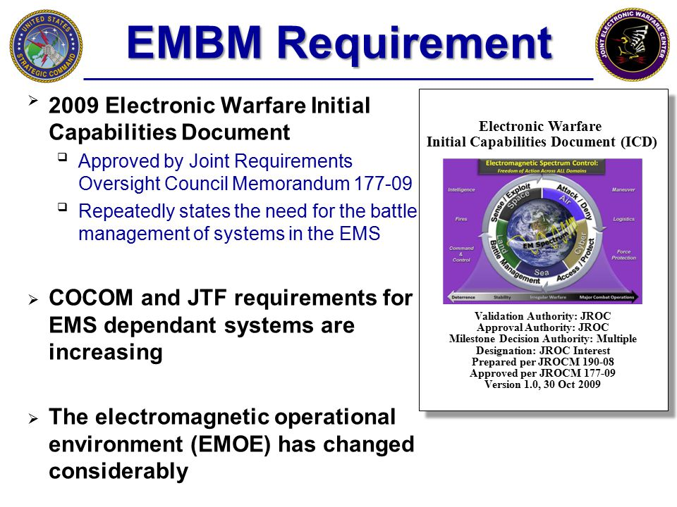 EMBM Requirement 2009 Electronic Warfare Initial Capabilities Document