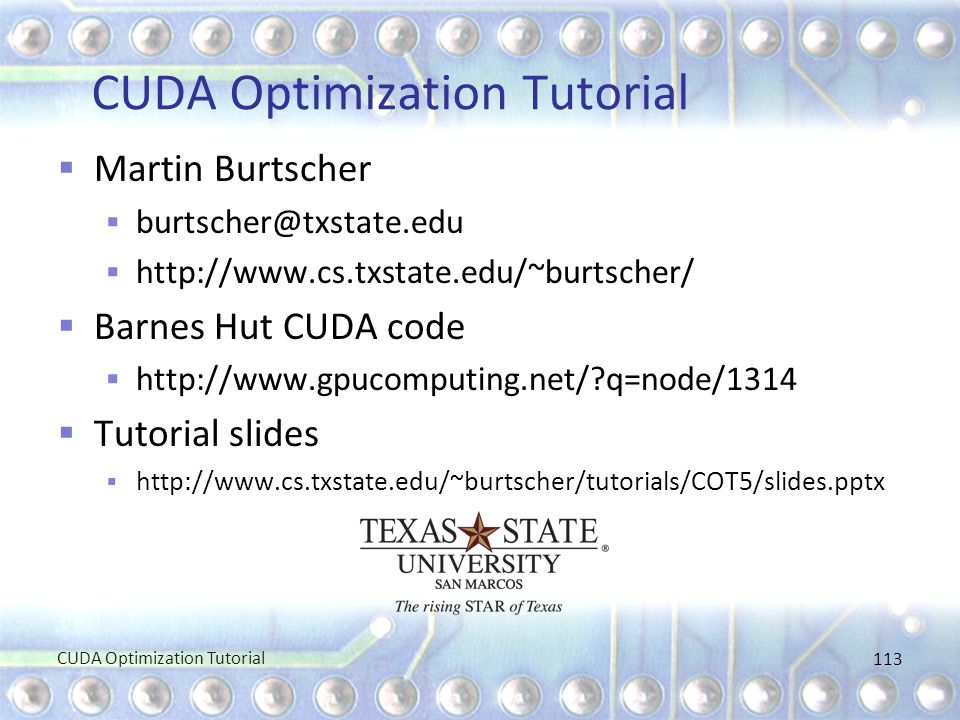 CUDA Optimization Tutorial