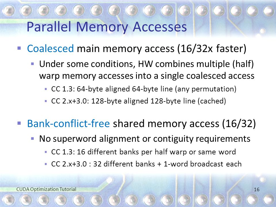 Parallel Memory Accesses