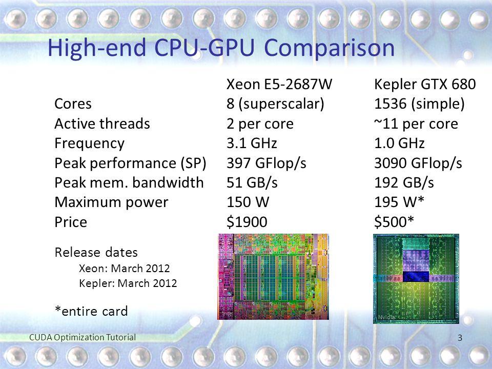 High-end CPU-GPU Comparison