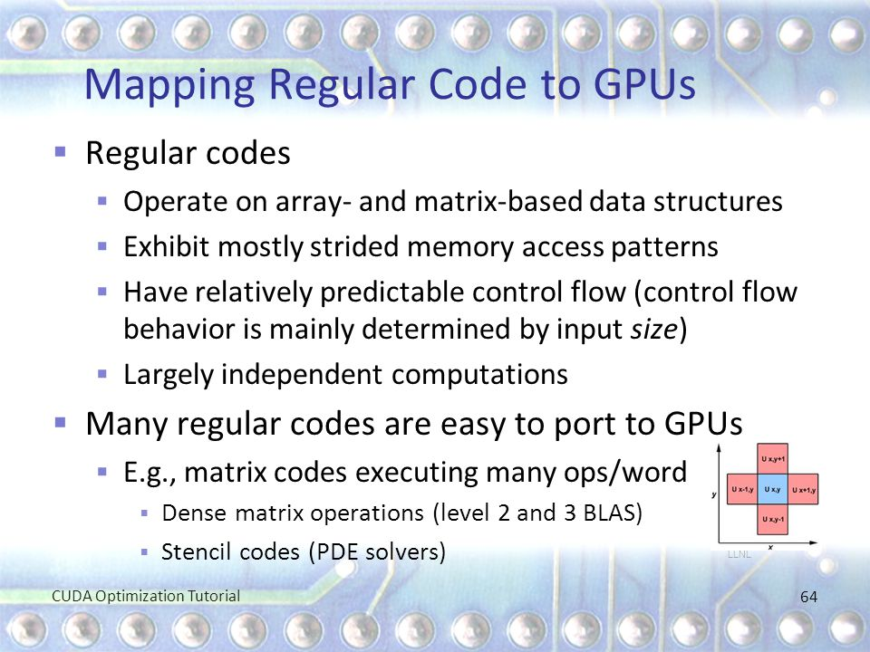 Mapping Regular Code to GPUs