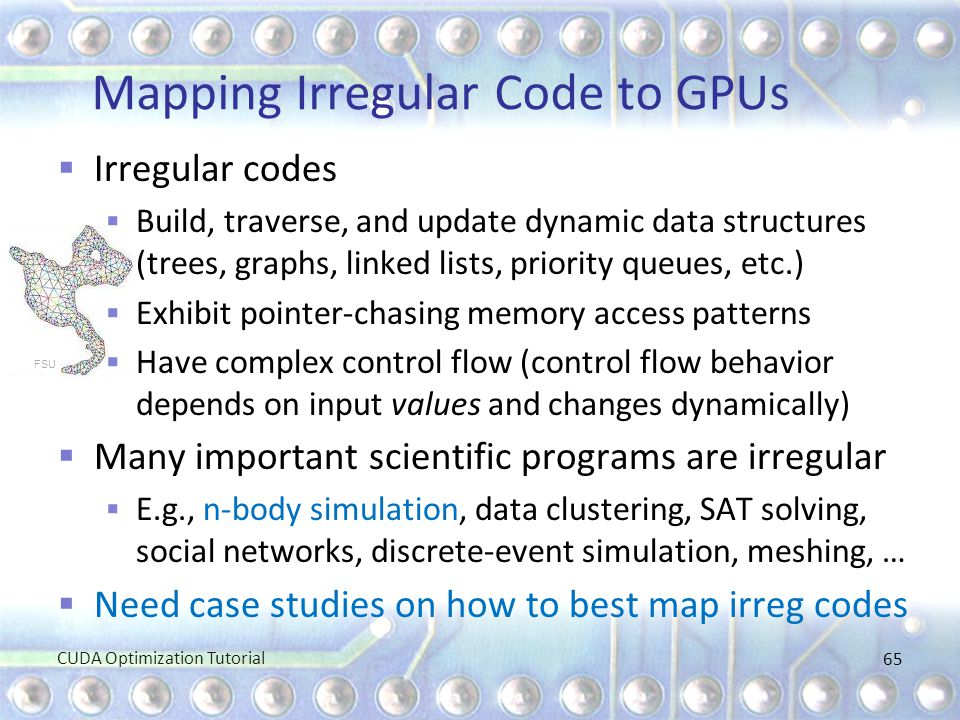 Mapping Irregular Code to GPUs