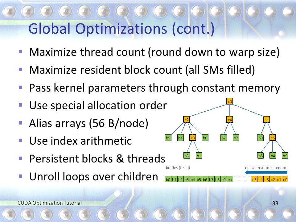 Global Optimizations (cont.)