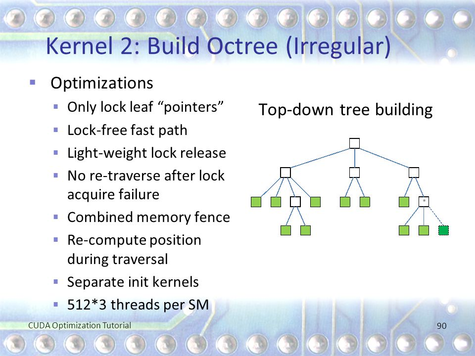 Kernel 2: Build Octree (Irregular)