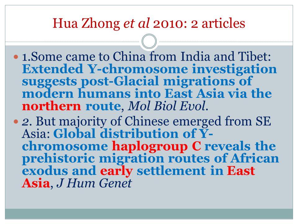 Hua Zhong et al 2010: 2 articles