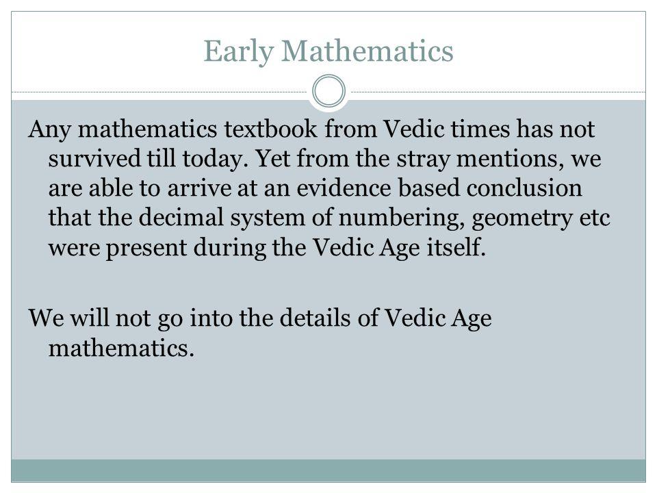 Early Mathematics