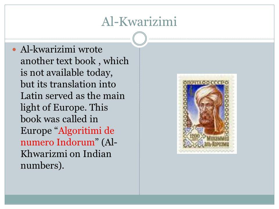 Al-Kwarizimi
