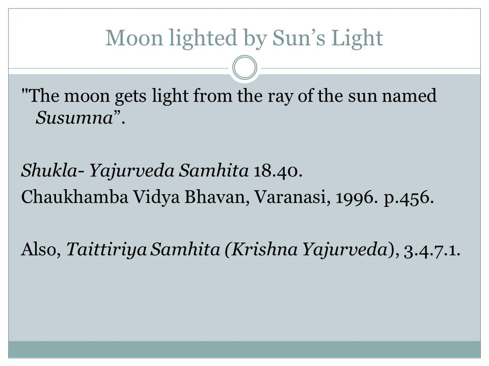 Moon lighted by Sun's Light