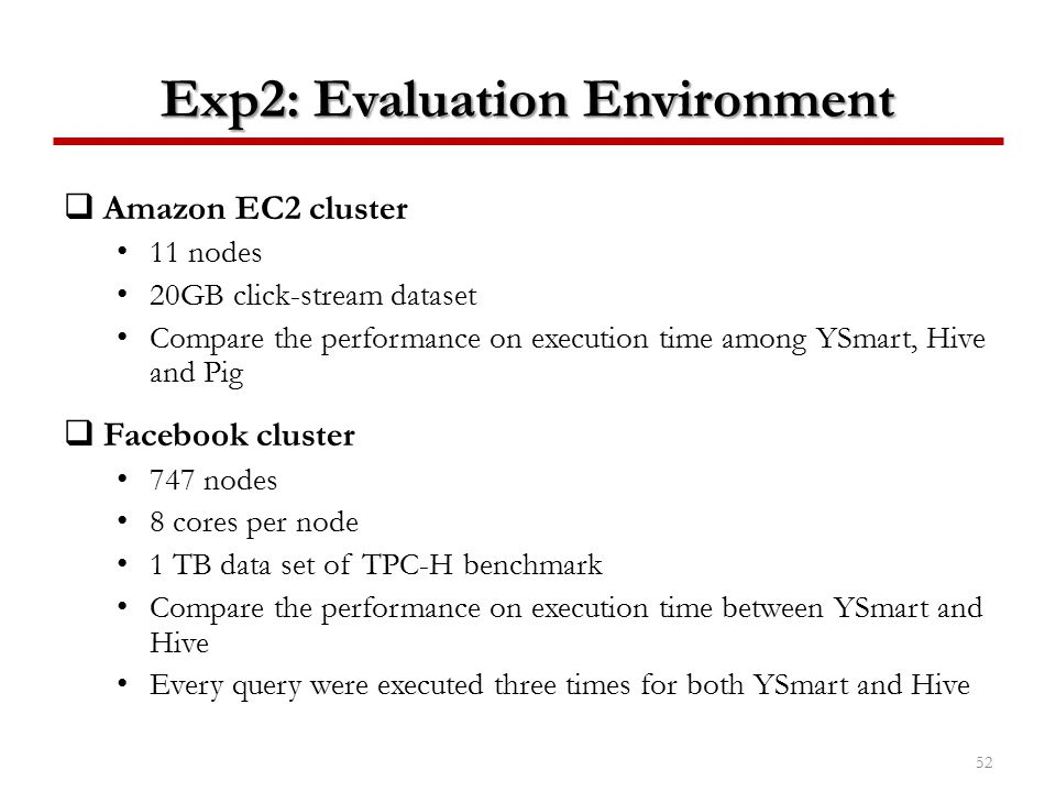 Exp2: Evaluation Environment