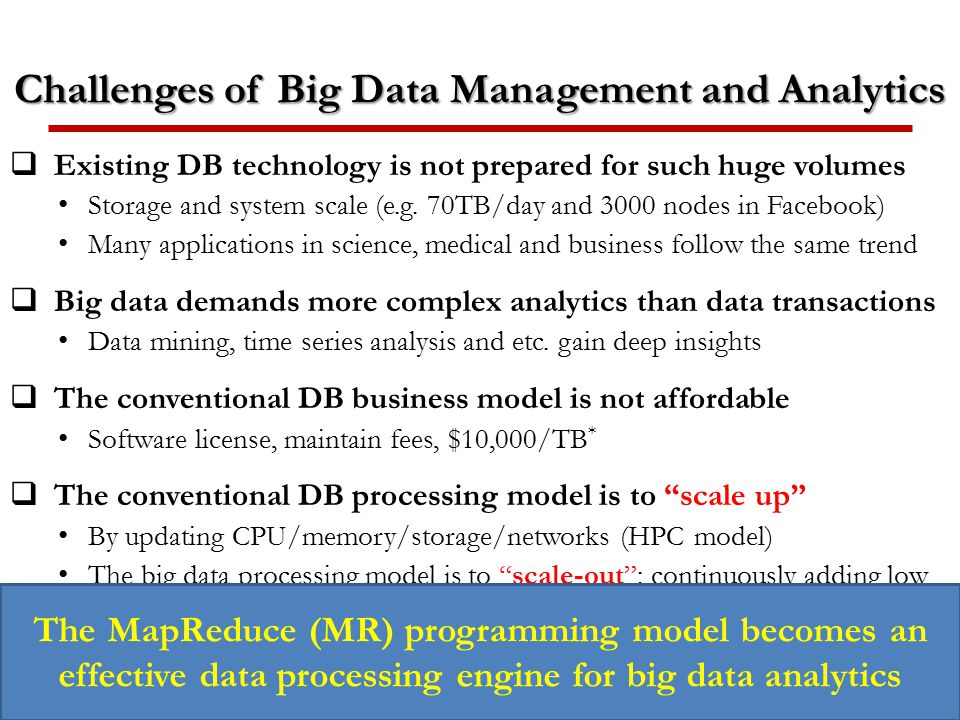 Challenges of Big Data Management and Analytics