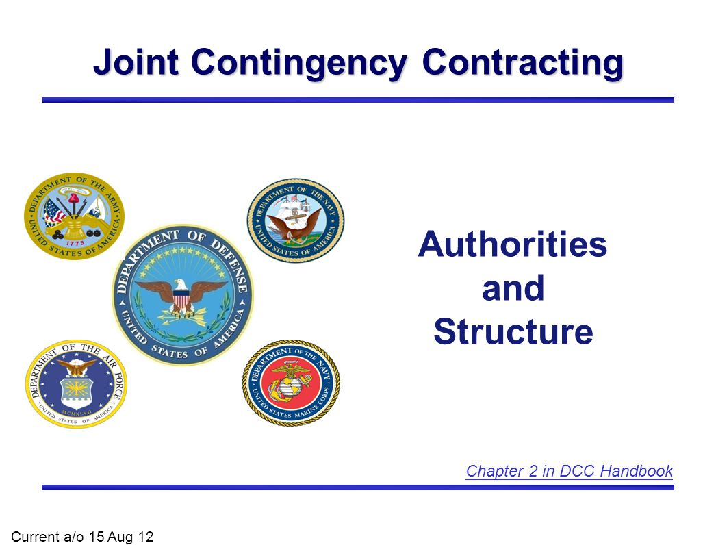 Joint Contingency Contracting