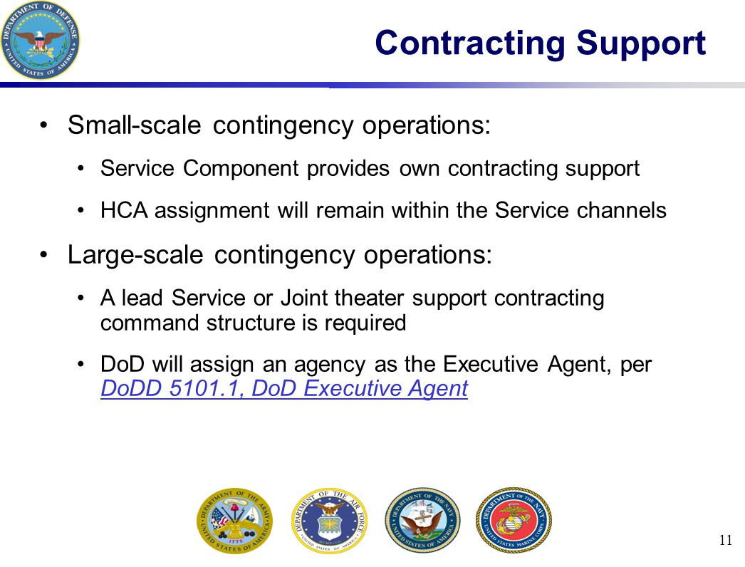 Contracting Support Small-scale contingency operations: