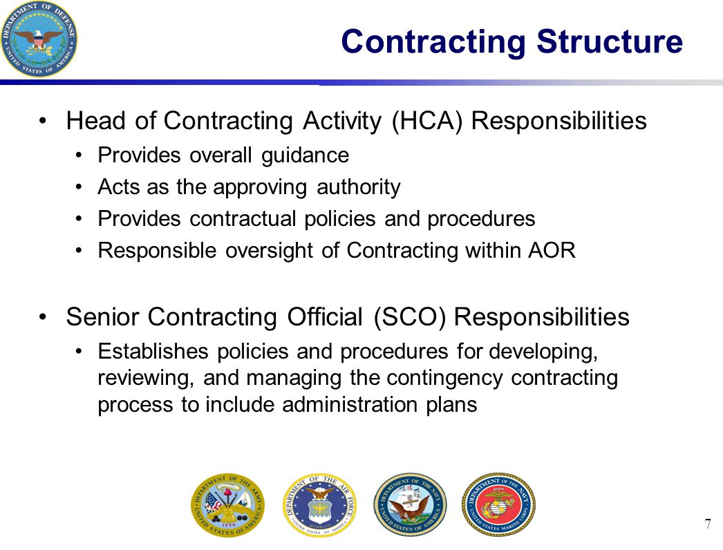 Contracting Structure