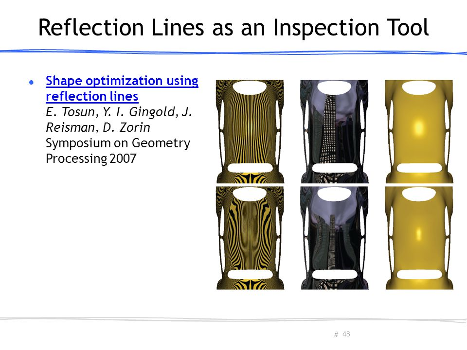 Reflection Lines as an Inspection Tool