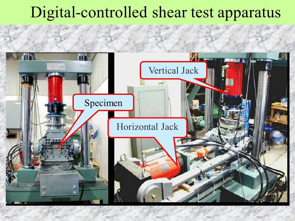 Digital-controlled shear test apparatus