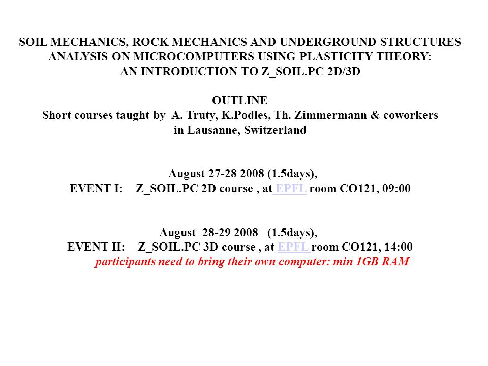 SOIL MECHANICS, ROCK MECHANICS AND UNDERGROUND STRUCTURES