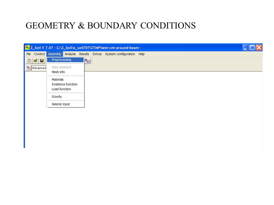 GEOMETRY & BOUNDARY CONDITIONS