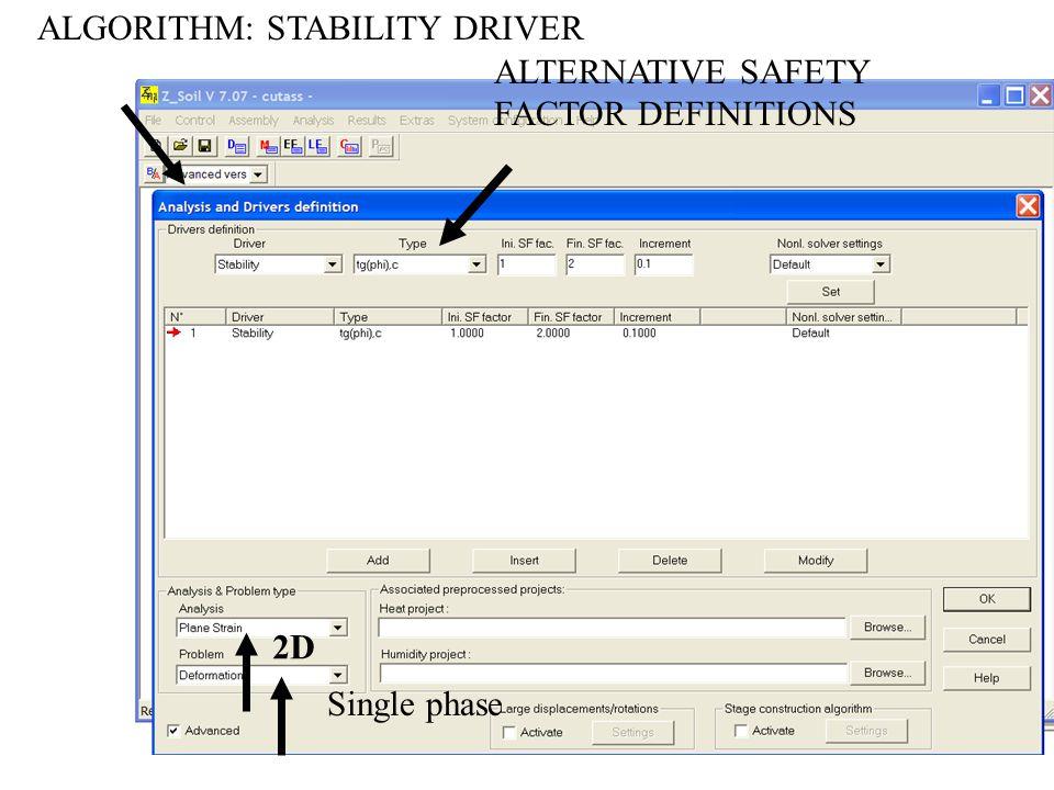 ALGORITHM: STABILITY DRIVER