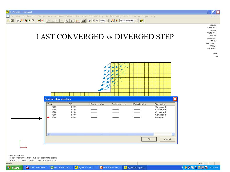 LAST CONVERGED vs DIVERGED STEP