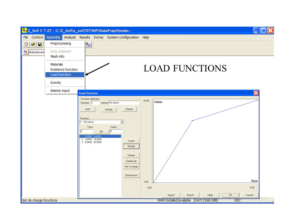 LOAD FUNCTIONS