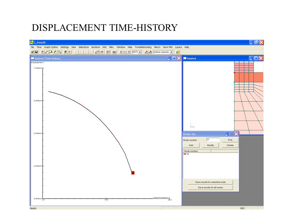 DISPLACEMENT TIME-HISTORY