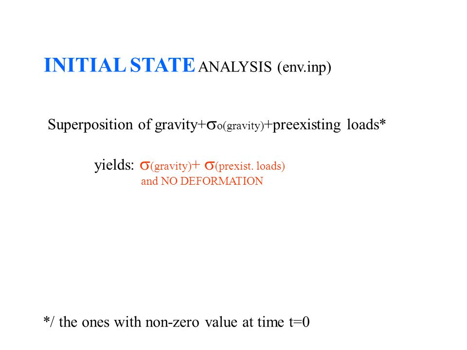 INITIAL STATE ANALYSIS (env.inp)